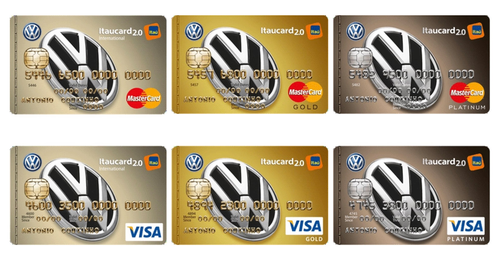 Cartão de crédito de montadora